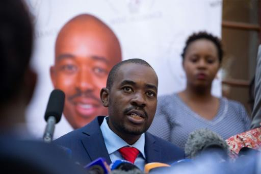 MDC leader Nelson Chamisa has attacked the election results as fraudulent