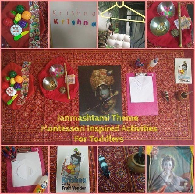 How I  celebrated Janmashtami with my 18 month old sweetheart with these fun activities