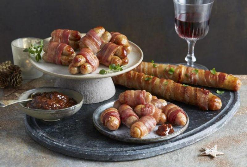 Aldi has launched Giant Pigs In Blankets as part of its Christmas 2018 range. [Photo: Aldi]