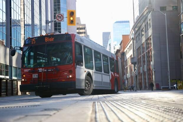 OC Transpo bus ridership has hovered around 30 per cent of pre-pandemic levels, and even hit18 per cent in January during the most recent lockdown. Suspending some bus routes is in the works.  (Andrew Lee/CBC - image credit)