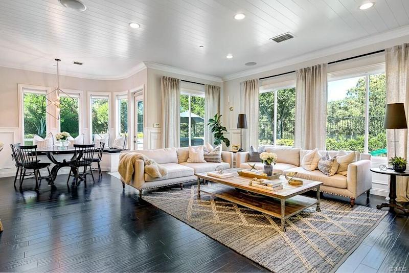 Tamra's dining nook and family room