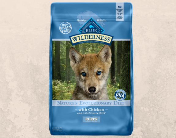 Specially formulated for growing pups.
