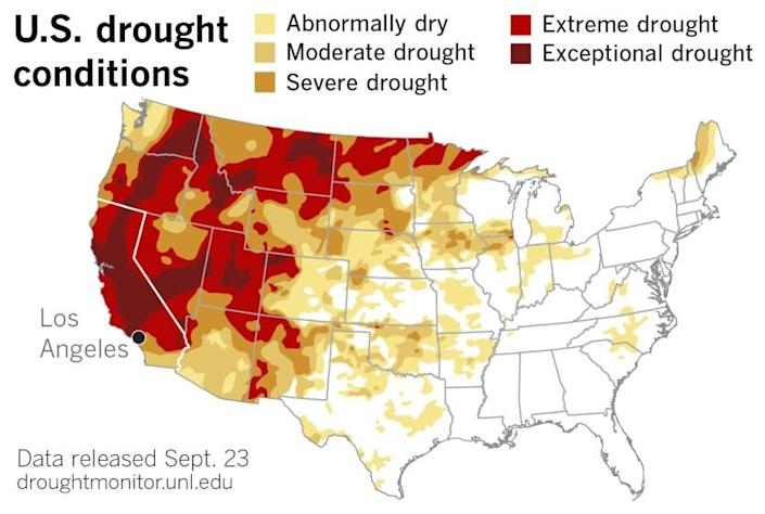 U.S. Drought Monitor issued Sept. 23, 2021