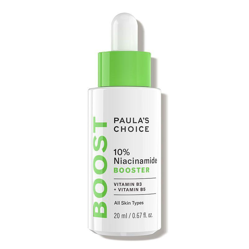 """<p><strong>Paula's Choice</strong></p><p>dermstore.com</p><p><strong>$44.00</strong></p><p><a href=""""https://go.redirectingat.com?id=74968X1596630&url=https%3A%2F%2Fwww.dermstore.com%2Fproduct_10%2BNiacinamide%2BBooster_67621.htm&sref=https%3A%2F%2Fwww.prevention.com%2Fbeauty%2Fskin-care%2Fg34339161%2Fbest-niacinamide-serums%2F"""" rel=""""nofollow noopener"""" target=""""_blank"""" data-ylk=""""slk:SHOP NOW"""" class=""""link rapid-noclick-resp"""">SHOP NOW</a></p><p>This booster packs in 10% niacinamide to tackle uneven skin tone. (It also helps cinch pores while it's at it, refining texture.) Licorice extract tackles redness, while vitamin C provides another boost of brightness.<strong> Add two to three drops of this silky serum to your moisturizer</strong> (or dab on skin alone) at night and during the day.</p>"""