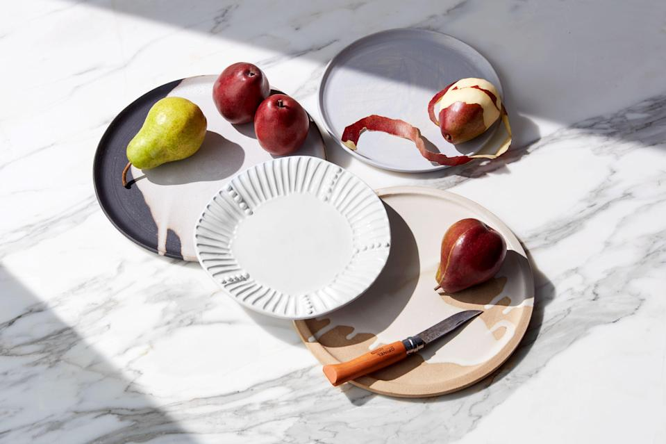 Not-so-boring white plates look good with anything.