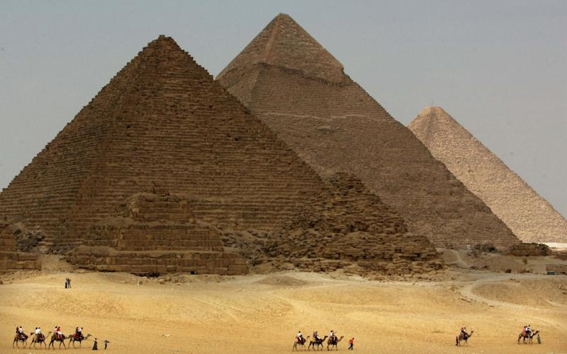The explosion happened near the Giza pyramids - Reuters