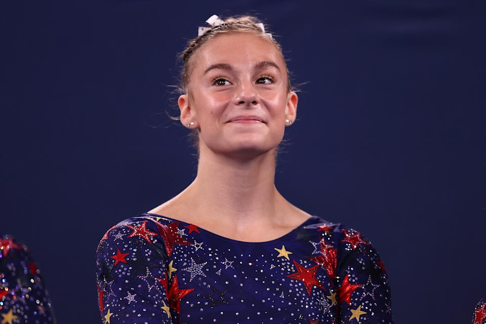 <p>Grace McCallum is an 18 year old gymnast from Isanti, Minnesota who is making her Olympic debute in Tokyo.</p>