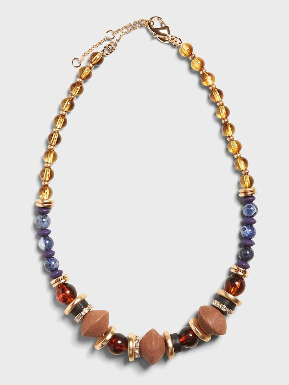 <p>This <span>Banana Republic Beaded Short Necklace</span> ($58) adds a fun eclectic look to any outfit.</p>