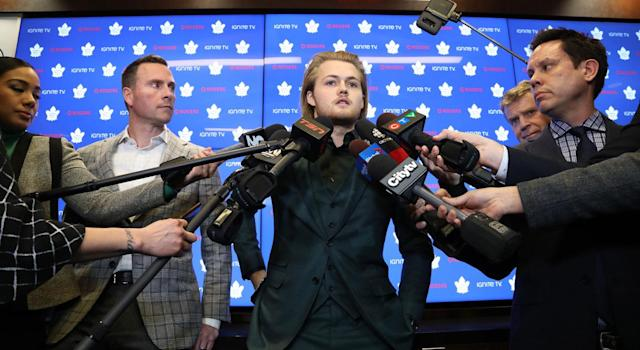 William Nylander reportedly got in a car crash on Friday. (Getty)