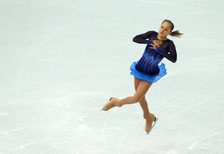 Russia's Julia Lipnitskaia performs in the Women's Figure Skating Team Short Program at the Iceberg Skating Palace during the 2014 Sochi Winter Olympics on February 8, 2014