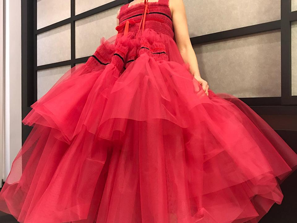 """<h2>Rosamund Pike in Molly Goddard</h2><br>Don't you just want to go out and dance in this tulle dress by Molly Goddard?<span class=""""copyright"""">Photo Credit: Rosamund Pike.</span>"""