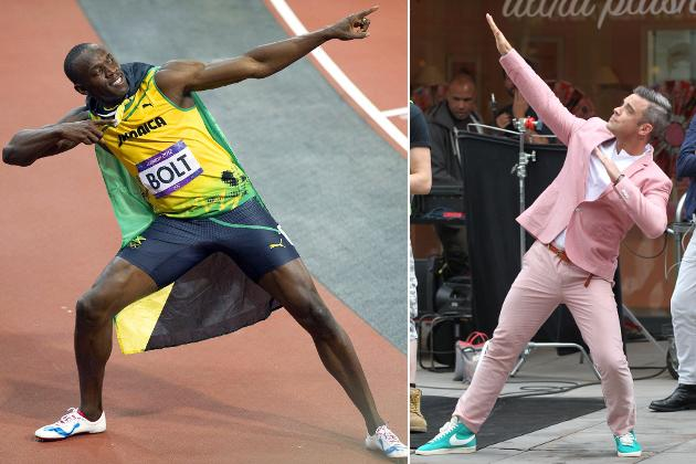 Robbie Williams ahmt Usain Bolt nach