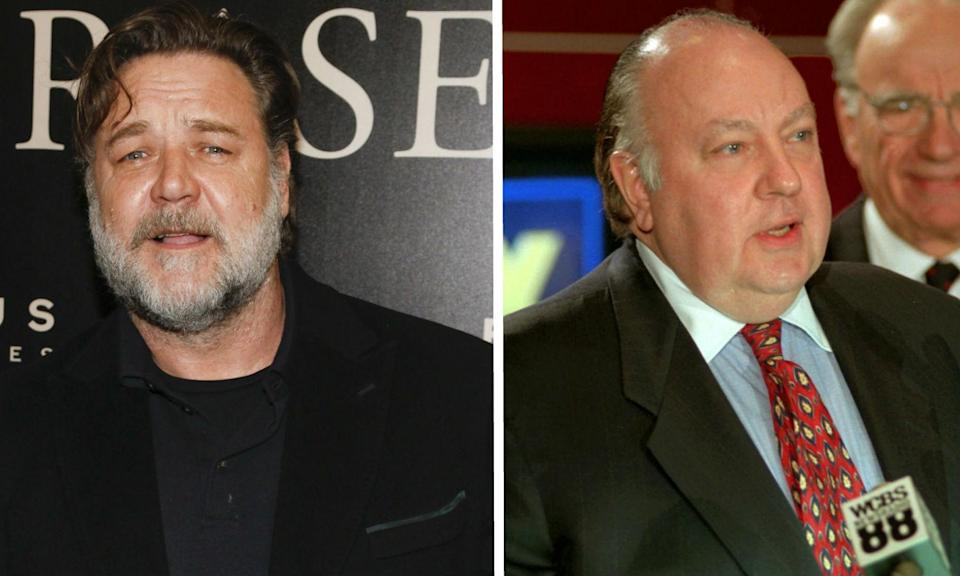 Russell Crowe is playing Roger Ailes in The Loudest Voice in the Room