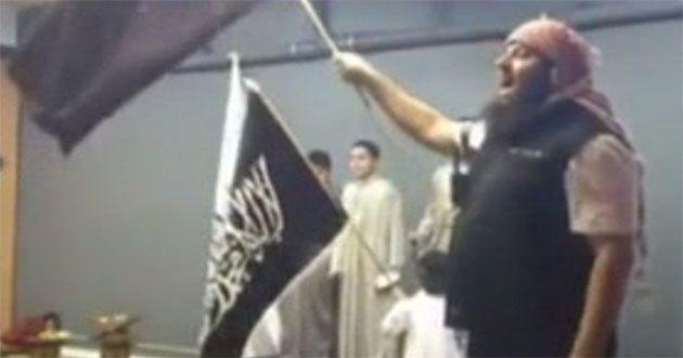 Bilal Merhi leads boys as young as six in extremist chants at Hizb ut-Tahrir youth group.