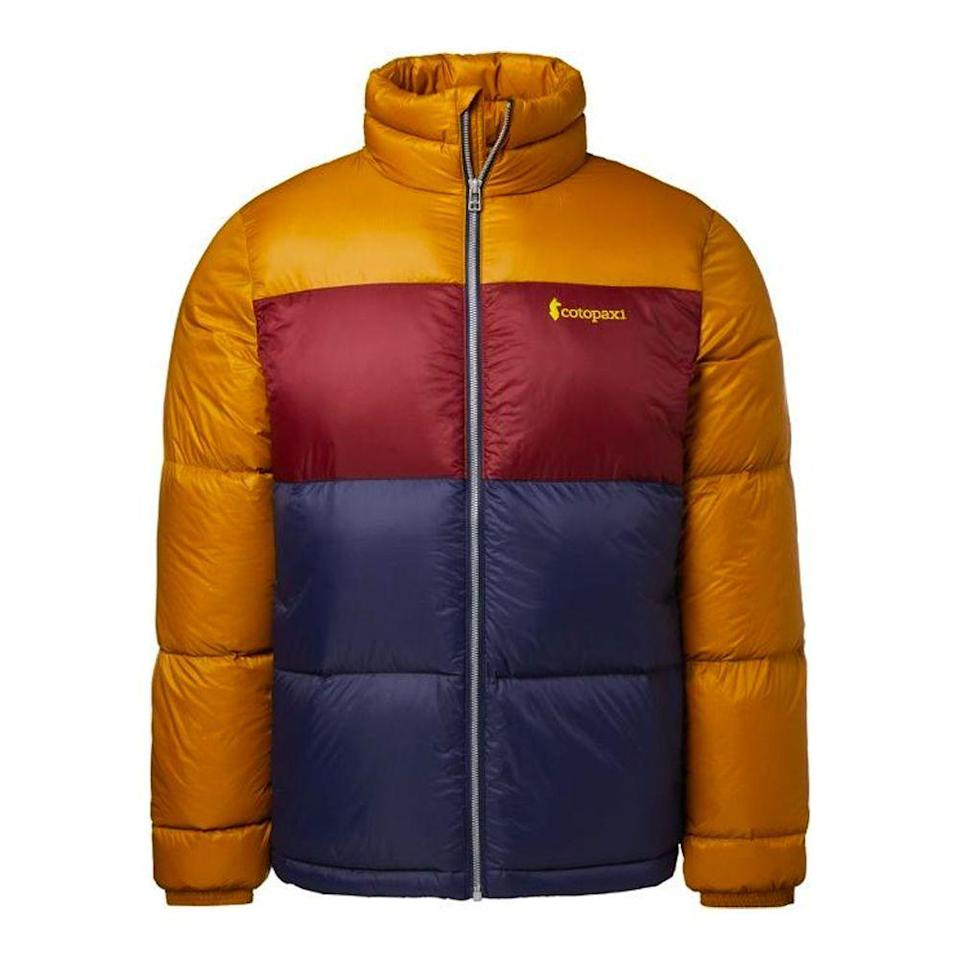"""<p><strong>Cotopaxi</strong></p><p>rei.com</p><p><a href=""""https://go.redirectingat.com?id=74968X1596630&url=https%3A%2F%2Fwww.rei.com%2Fproduct%2F176873&sref=https%3A%2F%2Fwww.bestproducts.com%2Flifestyle%2Fg37357856%2Flabor-day-sales-2021%2F"""" rel=""""nofollow noopener"""" target=""""_blank"""" data-ylk=""""slk:Shop Now"""" class=""""link rapid-noclick-resp"""">Shop Now</a></p><p><del>$220.00</del><strong><br>$109.83 (50% off)</strong></p><p>Stave off the cold in this stylish puffer. It's more than half off at REI, and the color-blocked style packs a big punch, while also being neutral enough to wear throughout all the seasons. </p>"""