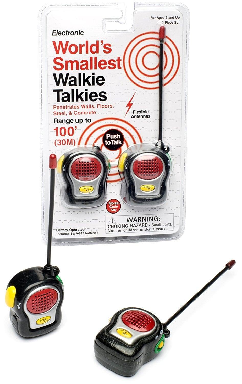 <p>They'll get a kick out of this <span>Westminster World's Smallest Walkie Talkies</span> ($14) set.</p>