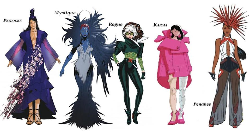 As always, the ladies of the X-Men are the most formidable. In battle and in fashion.