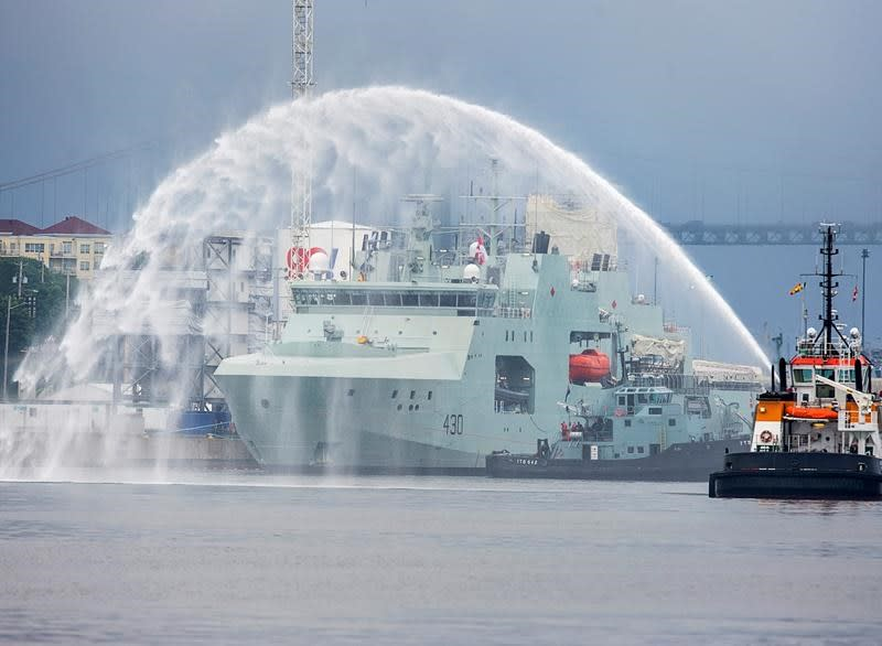 Navy enters new era by welcoming long-awaited Arctic warship into fleet