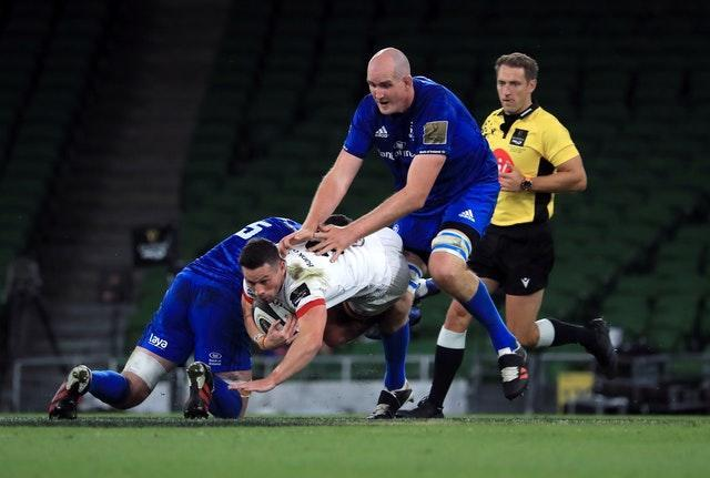 John Cooney, centre, has struggled for form with Ulster since rugby's resumption