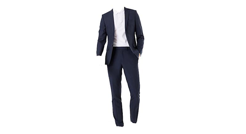 The Ultimate Navy Slim Fit Wool Blend Suit