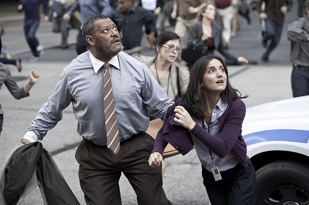 "Laurence Fishburne and Rebecca Buller in Warner Bros. Pictures' ""Man of Steel"" - 2013"