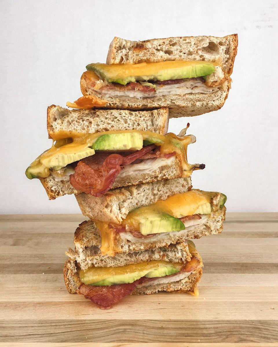 """<p>These ingredients are the three best friends that anybody could have.</p><p>Get the recipe from <a href=""""/cooking/recipe-ideas/recipes/a46509/turkey-avocado-bacon-grilled-cheese-recipe/"""" data-ylk=""""slk:Delish"""" class=""""link rapid-noclick-resp"""">Delish</a>. </p>"""