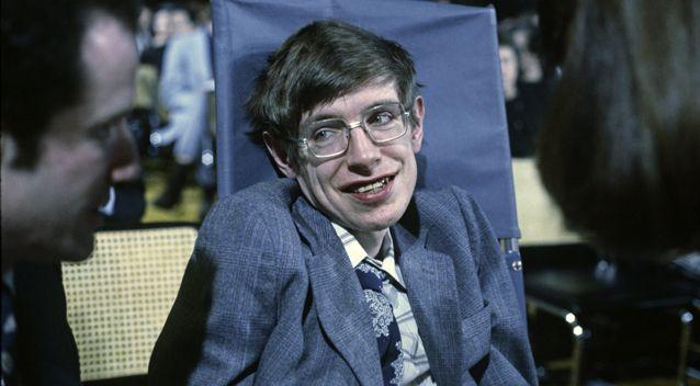 A photograph of Professor Hawking from October, 1979. Source: Getty