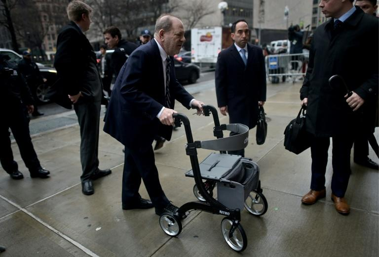 Weinstein, pictured arriving at the Manhattan Criminal Court on February 13, 2020, faces life imprisonment if convicted of predatory sexual assault charges