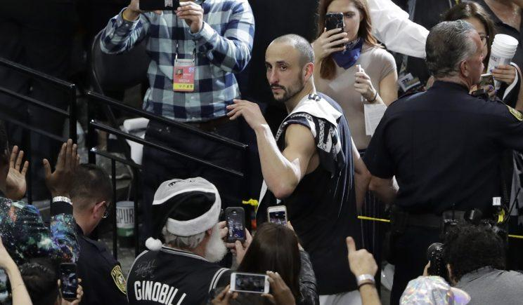 Manu Ginobili does not have a contract with the Spurs for next season. (AP)