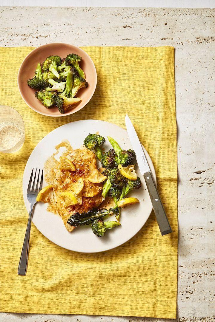 "<p>We love a good one-pot dinner, and this sautéed broccoli and chicken make for a quick-yet-delicious meal. </p><p><a href=""https://www.goodhousekeeping.com/food-recipes/healthy/a28650977/pan-fried-chicken-roasted-broccoli-recipe/"" rel=""nofollow noopener"" target=""_blank"" data-ylk=""slk:Get the recipe for Pan-Fried Chicken With Lemony Roasted Broccoli »"" class=""link rapid-noclick-resp""><em>Get the recipe for Pan-Fried Chicken With Lemony Roasted Broccoli »</em></a></p>"