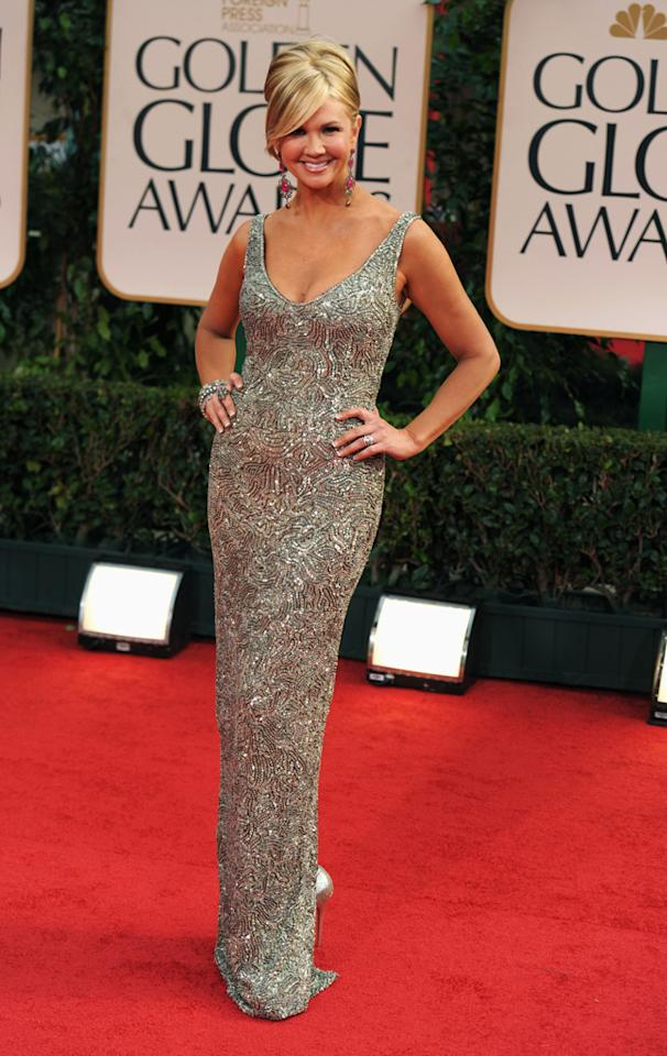 Nancy O'Dell arrives at the 69th Annual Golden Globe Awards in Beverly Hills, California, on January 15.