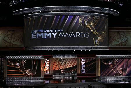 File photo of host Jimmy Kimmel opening the show at the 64th Primetime Emmy Awards in Los Angeles