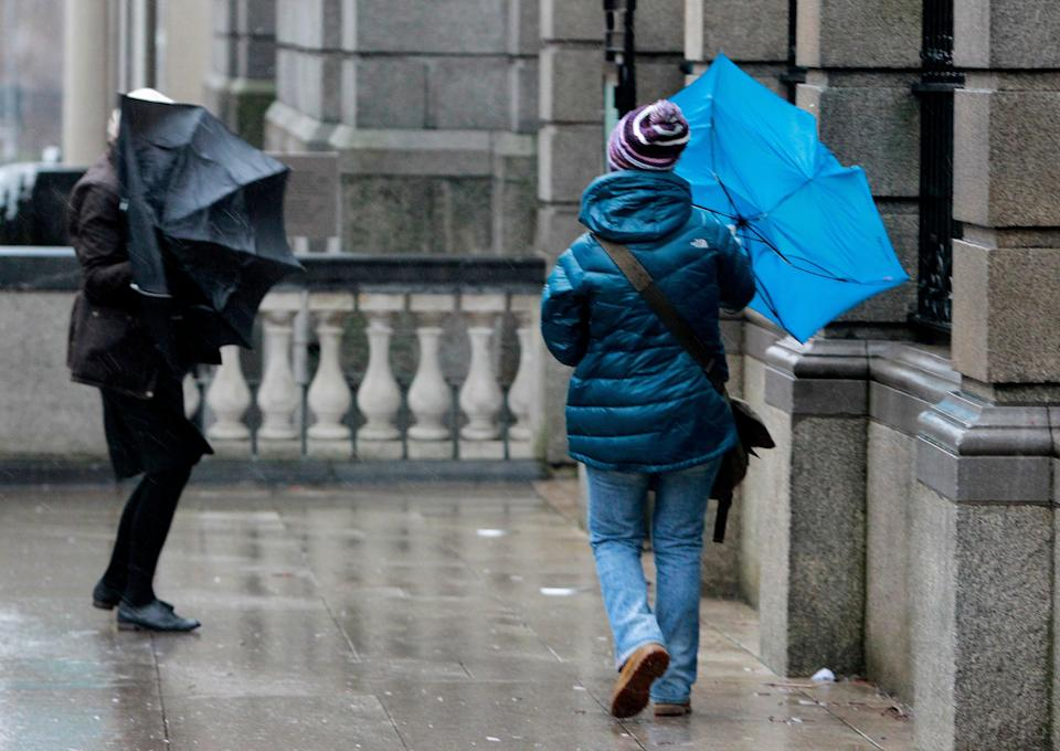 The Met Office said the storm will bring 'unseasonably strong winds and heavy rain' (PA) (PA Archive)