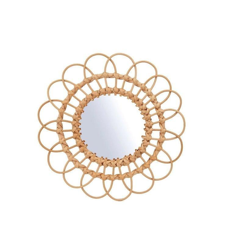 """<br><br><strong>ThistleandStoneHome</strong> Rattan Wall Mirror, $, available at <a href=""""https://www.etsy.com/uk/listing/913948624/rattan-wall-mirror?"""" rel=""""nofollow noopener"""" target=""""_blank"""" data-ylk=""""slk:Etsy"""" class=""""link rapid-noclick-resp"""">Etsy</a>"""