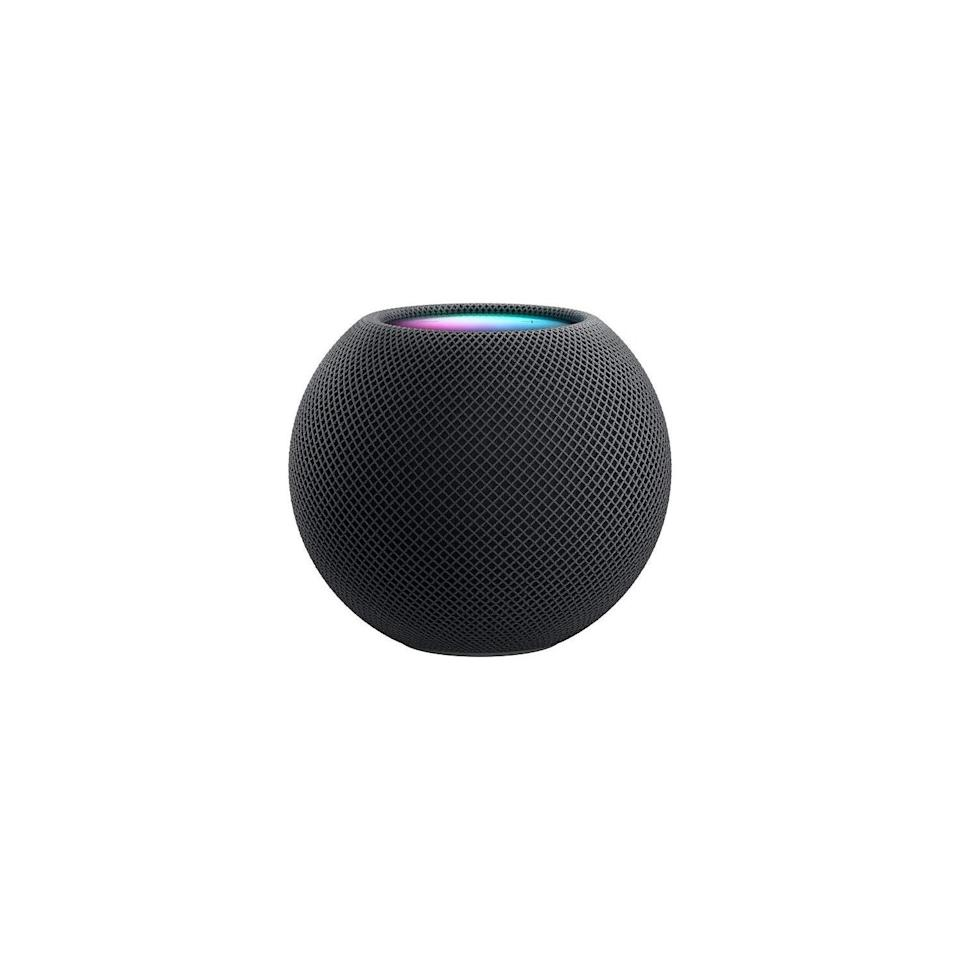"Apple is on a mission to become carbon neutral by 2030, and its HomePod mini is its latest proof. It's a small but mighty speaker that's made from recycled materials. $99, Apple. <a href=""https://www.apple.com/shop/buy-homepod/homepod-mini/space-gray"" rel=""nofollow noopener"" target=""_blank"" data-ylk=""slk:Get it now!"" class=""link rapid-noclick-resp"">Get it now!</a>"