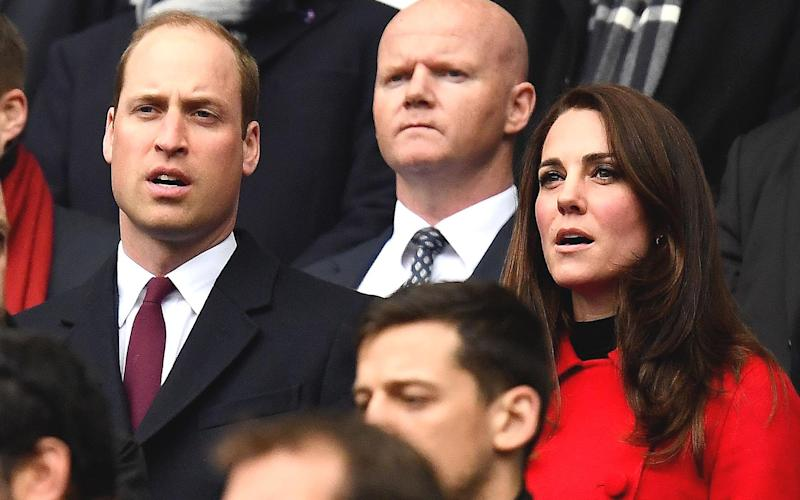 The Duke and Duchess of Cambridge at Stade de France for Wales's final Six Nations match of the season - Credit: AFP/GETTY IMAGES