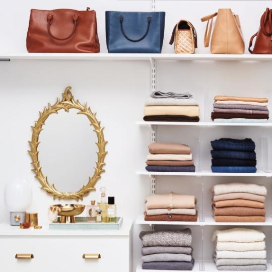 <p>You should go through your closet two to four times annually! Yes, really! And a one-in, one-out policy always works when it comes to combating clutter. Every time you purchase something, make sure you donate an item.</p>