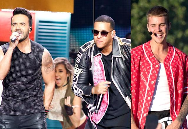 "<p>This song, which has been No. 1 for eight weeks, is the first song sung mostly in Spanish to reach No. 1 since Los Del Rio's ""Macarena"" in 1996. It's Bieber's fifth No. 1 hit. <a href=""https://www.youtube.com/watch?v=72UO0v5ESUo"" rel=""nofollow noopener"" target=""_blank"" data-ylk=""slk:LISTEN HERE"" class=""link rapid-noclick-resp""><strong>LISTEN HERE</strong></a>.<br>(Photo: Getty Images) </p>"