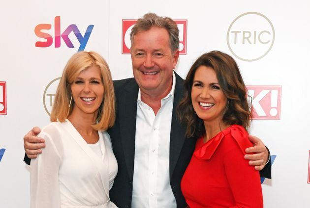 Piers with former colleagues Susanna Reid and Kate Garraway on the red carpet (Photo: David M. Benett via Getty Images)