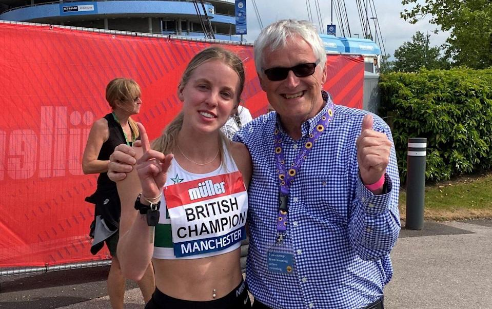 Keely Hodgkinson, the main athlete Barrie is currently backing, won silver in the 800m in Tokyo