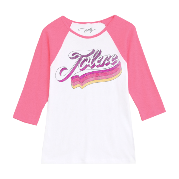 "<p>dollyparton.com</p><p><strong>$35.00</strong></p><p><a href=""https://shop.dollyparton.com/collections/apparel/products/jolene-pink-white-raglan"" rel=""nofollow noopener"" target=""_blank"" data-ylk=""slk:Shop Now"" class=""link rapid-noclick-resp"">Shop Now</a></p>"