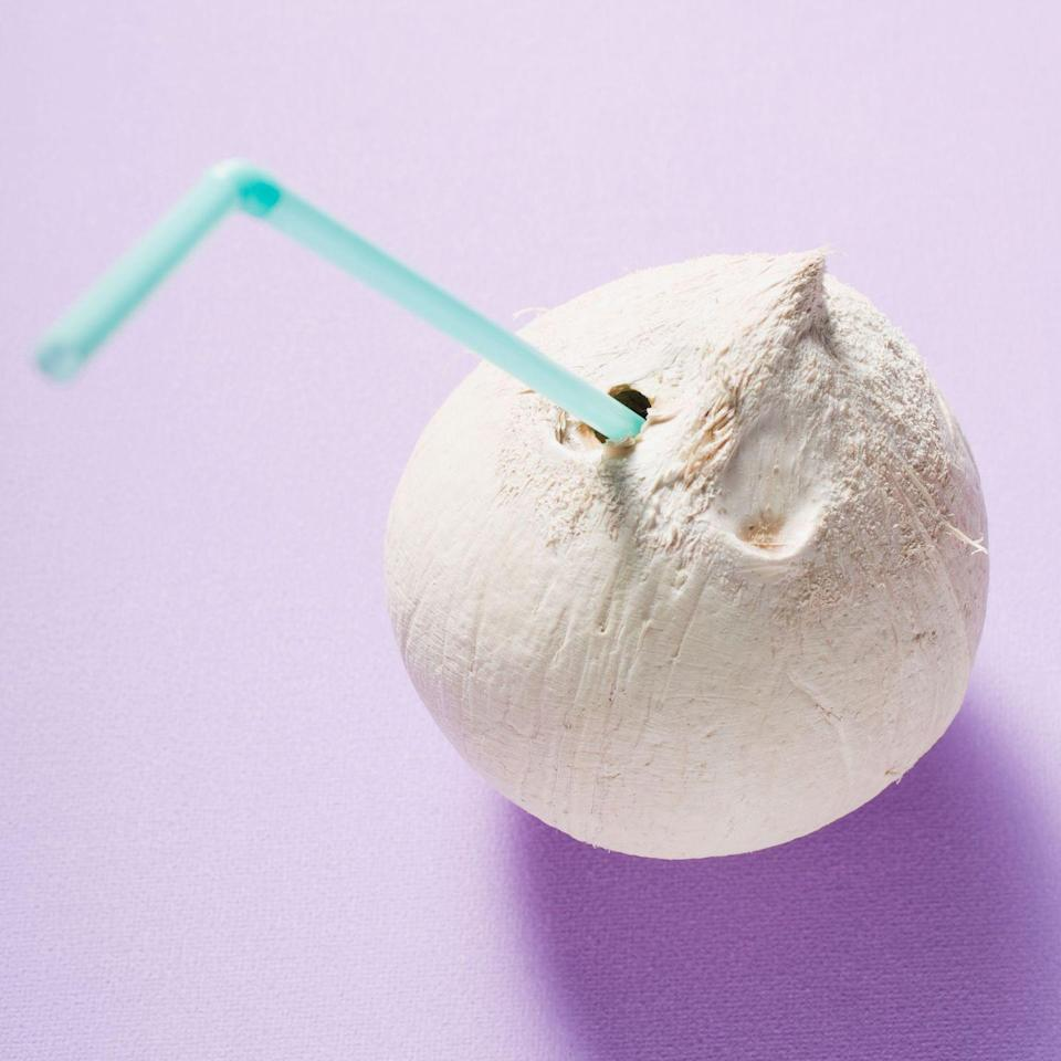"""<p>Eating coconut won't just make you feel like you got transported to a tropical paradise: It also has some major health benefits. <a href=""""https://www.ncbi.nlm.nih.gov/pubmed/15298758"""" rel=""""nofollow noopener"""" target=""""_blank"""" data-ylk=""""slk:One study"""" class=""""link rapid-noclick-resp"""">One study</a> showed eating the fruit is great at lowering cholesterol levels — even if you just top your salad with some crunchy flakes.</p>"""