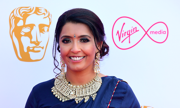 Sunetra Sarker attending the Virgin Media BAFTA TV awards, held at the Royal Festival Hall in London. (Photo by Ian West/PA Images via Getty Images)