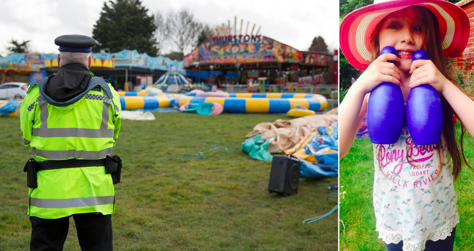 <em>A witness told the trial that the bouncy castle carrying Summer Grant was packed away before police arrived (SWNS/PA)</em>