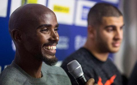 <span>Mo Farah (left) and Adam Gemili, who says of Farah: 'What he's done in Britain for athletics is unparalleled.'</span> <span>Credit: Danny Lawson/PA </span>