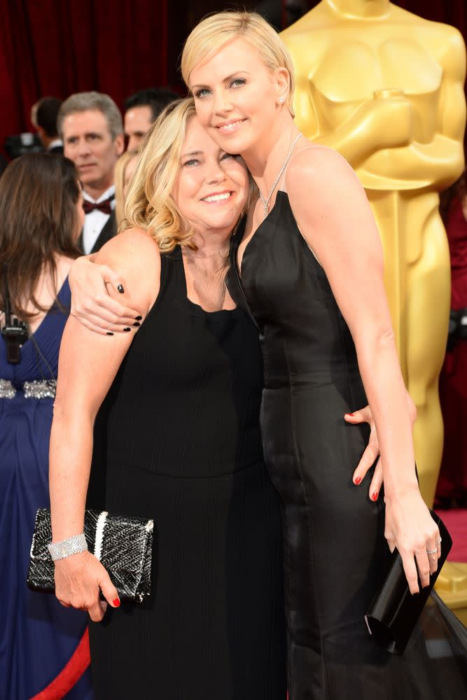 Charlize Theron and mom Gerda Jacoba Aletta Maritz in March 2014
