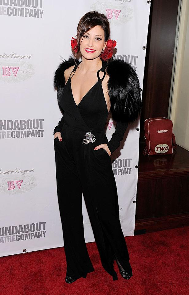 "Hopefully no Muppets were harmed in the creation of Gina Gershon's ensemble. Jemal Countess/<a href=""http://www.gettyimages.com/"" target=""new"">GettyImages.com</a> - October 15, 2009"