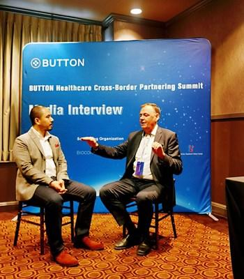 """""""1-on-1"""" Talk between Mr. Anders Mollstam (CEO and Founder of MC AB from Sweden) and Mr. Shutian Liu (co-founder of BUTTON)"""