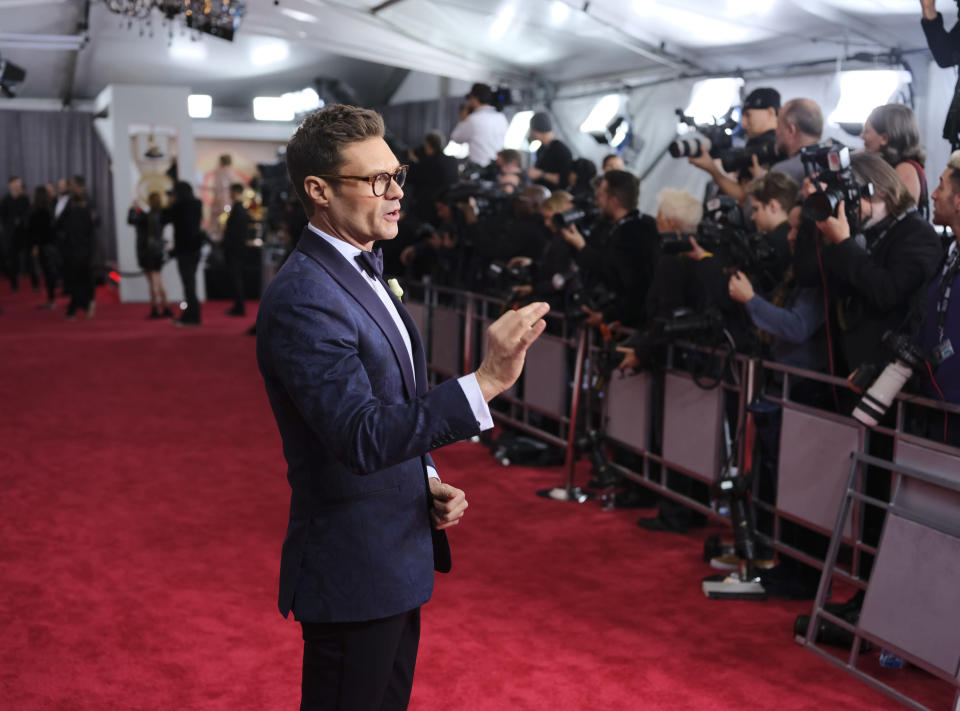 Ryan Seacrest has hosted E!'s red carpet coverage for more than a decade. Now, people wonder if it's time for fresh faces. (Photo: Getty Images)
