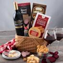 """<p><strong>Product ID:</strong></p><p>gourmetgiftbaskets.com</p><p><strong>$69.99</strong></p><p><a href=""""https://go.redirectingat.com?id=74968X1596630&url=https%3A%2F%2Fwww.gourmetgiftbaskets.com%2FClassic-Red-Wine-Gift-Basket.asp&sref=https%3A%2F%2Fwww.townandcountrymag.com%2Fleisure%2Fdining%2Fg29328884%2Fbest-wine-cheese-gift-baskets%2F"""" rel=""""nofollow noopener"""" target=""""_blank"""" data-ylk=""""slk:Shop Now"""" class=""""link rapid-noclick-resp"""">Shop Now</a></p><p>Sweet or savory, this basket offers plenty of pairings for the dedicated red drinker. Filled with smoked gouda, summer sausage, crackers, cheese straws, and chocolate treats, not to mention a rich Italian red made with Sicily's signature grape, the nero d'avola, it was practically made for a cozy night in. </p>"""